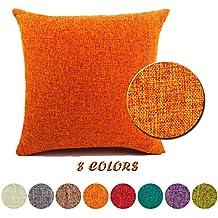 JT Kissenbezge Baumwolle Leinen Platz Dekorative Kissenhllen Mit Verdecktem Reissverschluss Setzen Sofa Kissenbezug Wohnzimmer Rechteckig Zierkissenbezge