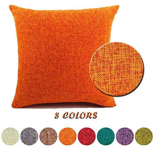 Jt federe per cuscini moda vintage di cotone lino divano federa cuscino letto geometria rettangolari cuscini e federe 40x60cm arancia