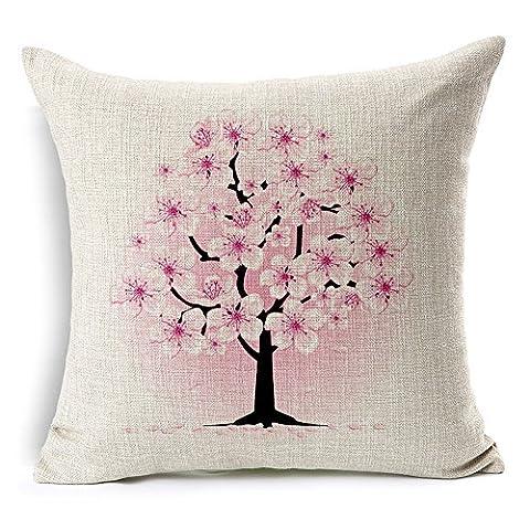 coolsummer Jane européenne peint à la main style Magnolia épaissir comme Couvre-lit décoratif taie d'oreiller carré en coton Motif de Fleurs 45cm x 45cm (45,7x 45,7cm), UKSH006A6, 18x18