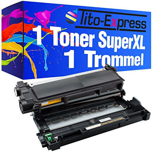 PlatinumSeries 1 Drum & 1 Toner Super-XL per Brother DR-2300 TN-2320 HL-L2300D L2340DW L2360DN L2365DW MFC-L2700DW L2700DN L2740DW DCP-L2500D L2520DW L2540DN L2560DW L2700DW