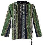 Goa Kapuzenshirt, Baja Hoody / Hoodies und Goa Jacken, alternative Bekleidung von Guru-Shop, Grün, Gr. L