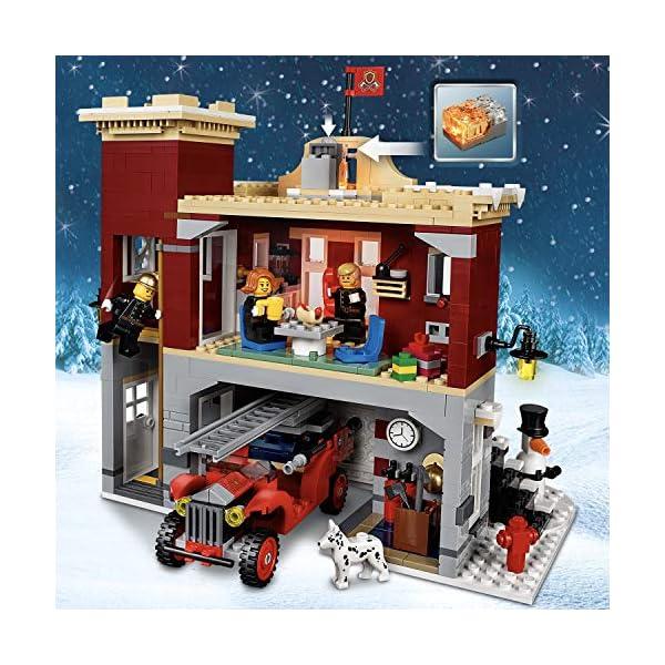 LEGO 10263 Creator Expert Winter Village Fire Station, Stazione dei vigili del fuoco per bambini 2 spesavip
