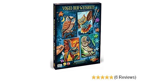Malen nach Zahlen Quattro Schipper 609340701 18 x 24 cm Vogel der Weisheit