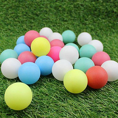 Zantec 60PCS nahtloses buntes pp. Tischtennis Ball für Dekorations Lotto Vergnügungspark Kindergarten scherzt Spielzeug
