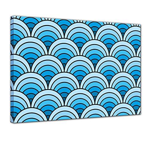 Bilderdepot24 Kunstdruck - Wellenmuster Tapete - Bild auf Leinwand - 120x90 cm einteilig - Leinwandbilder - Bilder als Leinwanddruck - Wandbild