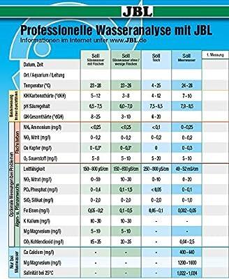 JBL Aräometer mit Thermometer plus Meßgefäß 6140800 Dichtemesser für Meerwasser Aquarien