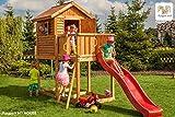 Fungoo Spielturm MY HOUSE mit Rutsche, Leiter mit Metallsprossen und geschlossenem Spielhaus - Gelb