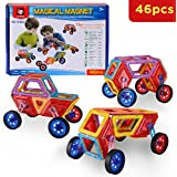 Lospu HY Magnetic Tiles Building Block Magnet Stacking Toy Set