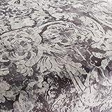 Chivasso Möbelstoff Yin Muster Abstrakt Farbe schwarz-anthrazit als robuster Bezugsstoff, Polsterstoff schwarz-anthrazit Gemustert zum Nähen und Beziehen, Polyester