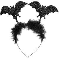 Oblique Unique® Fledermaus Haarreifen mit Glitzereffekt für Prank Monster Grusel Horror Halloween Karneval Fasching…