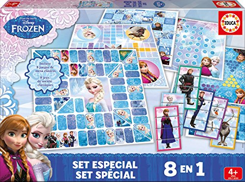 Educa 16865 - Special Game Set 8 EN 1 Frozen, Spiele und Puzzles
