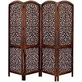 Aarsun Woods Wooden Room Divider / Wooden Partition, Brown