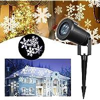LED Proyector Luces de Navidad – VIDEN Lámpara de Proyector con Copo de Nieve de Dinámica, Exterior / Interior Impermeable IP65, Luz de Proyección Iluminación del Paisaje, Muro Decoración