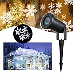 Idea Regalo - Proiettore Natale Luci – VIDEN Proiettore Lampada con Fiocchi di Neve Dinamiche, Paesaggio Lampada LED da Impermeabile IP65, Giardino LED Luce da Esterno e Interno, Decorazioni Natalizie