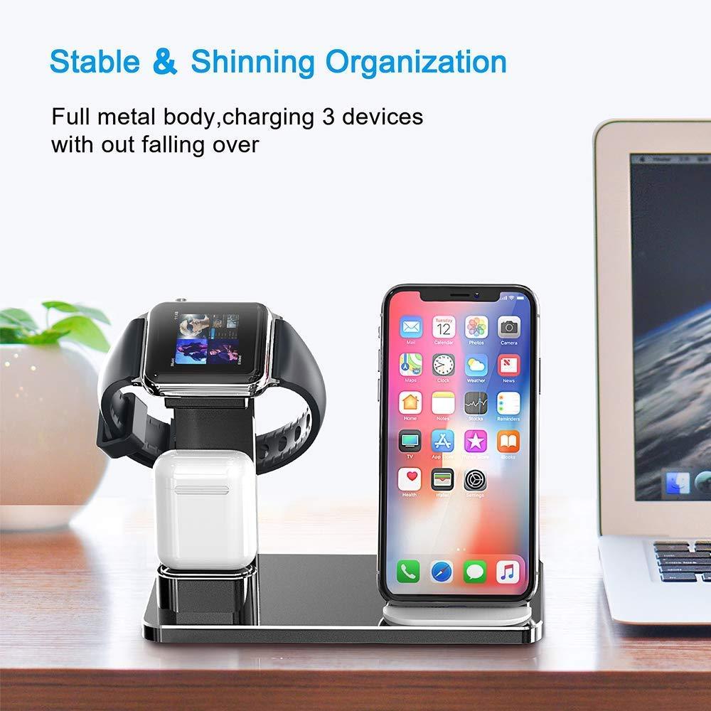 8fc982fb1b0 Soporte de Carga Para Apple Watch, YOMENG Estación de Carga Rápida Qi  Inalámbrica ...