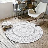 HYRL Carpets Runde Teppiche Wohnzimmer Teppiche Geometrische Muster Soft/Anti-Rutsch-Tee Tabelle Computer Stuhlmatten,#2,120Cm