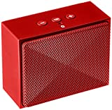 AmazonBasics - Altoparlante bluetooth Mini, ultra portatile - Rosso