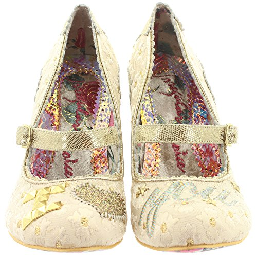 Irregular Choice Pumps I LOVE YOU 4236-01 Beige