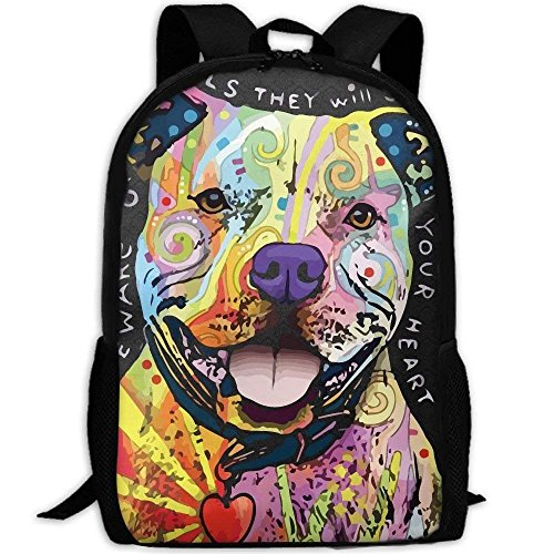 Pit Bull Pattern Unique Outdoor Shoulders Bag Fabric Rucksack Multipurpose Daypacks -