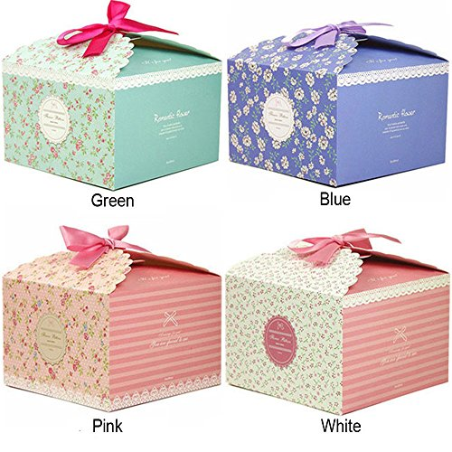 Chilly Gift Boxes, Set of 12 Decorative Treats Boxes, Cookies, Goodies, Candy and Homemade Soaps Gift Boxes for Baby Shower, Christmas, Birthdays, Holidays, Graduations, Wedding Gift Boxes