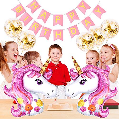 rn Ballons Partyzubehör, Geburtstag Brief Banner Kinder Geburtstag Party Dekoration Fischschwanz Pull Flag Bunting (PINK) ()