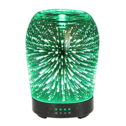 aroma diffusor coosa 100ml ultraschall cool mist luftbefeuchter glas 3d feuerwerk muster. Black Bedroom Furniture Sets. Home Design Ideas