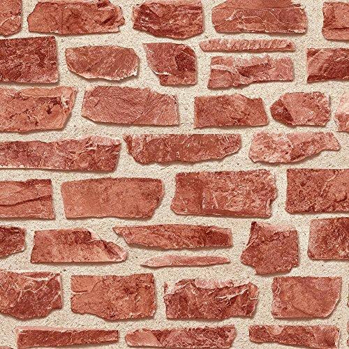 Bricks Qualität Papier, einfach, Hängen, flach, glatte Finish (Finish Brick Red)