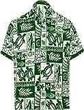 LA LEELA Funky Chemise Hawaïenne Bouton Chemise hawaïenne Hommes Plage en Bas de fête de Vacances Casual Manches Courtes 5XL des fantômes Blanc_W126