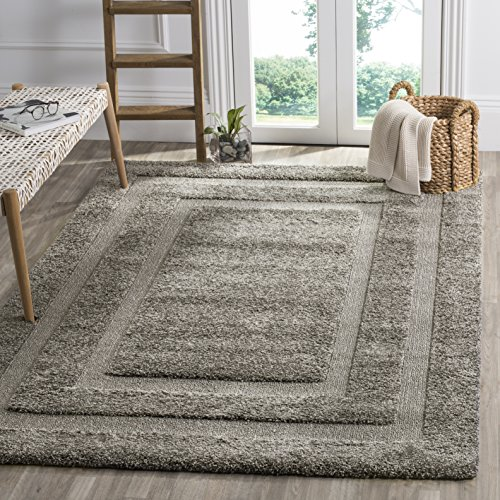 Safavieh Florida Shag Collection sg454–1111 Shag Bereich Runner, Grey/Grey, 6'7