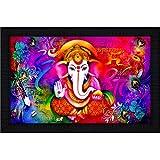 JSOnline Ganesha Paintings With Frame || Ganesha Wall Hanging Decoration || Ganesha Wall Hanging || Ganesha Wall Stickers || Ganesha Wall Painting || Ganesha Wall Painting With Frame || Ganesha Wall Paintings For Living Room || Ganesha Paintings With Fram