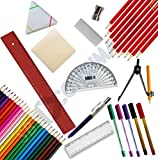 48 Piece Back to School/College Stationery Set. Pens - Best Reviews Guide