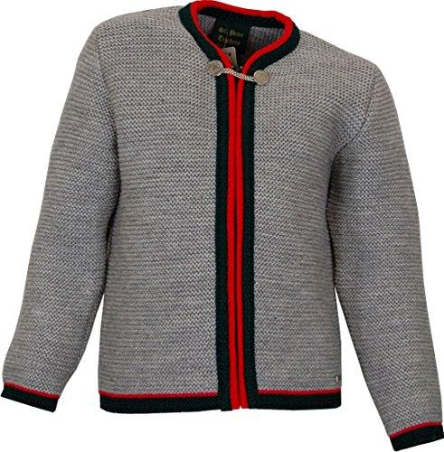 Stützle Trachten Kinder Strick Jacke Schorsch, Größen:116, Farbe:hellgrau