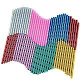 KUUQA 70 Pcs Glitter Hot Melt Glue Adhesive Glue Sticks for DIY Art Craft 7 x 100mm (7 Colors)
