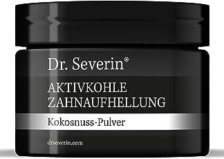 Dr. Severin® Aktivkohle Zahnaufhellung Kokosnuss-Pulver. Zahn-Bleaching. Schwarzes Pulver mit Zahnpasta mischen, für Zahnreinigung, direkte Wirkung. Zufriedenheitsgarantie. Beste deutsche Qualität.