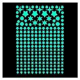 lumentics 225 Leuchtsterne - Super hell im Dunkeln nachleuchtende Aufkleber. Fluoreszierende Sternenhimmel-Sticker. Selbstleuchtende Sterne für Dekoration und Orientierung. (DIN A4 Bogen, Grün)
