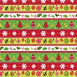 Caspari 8ft Calico Christmas Foil Gift Wrapping Paper