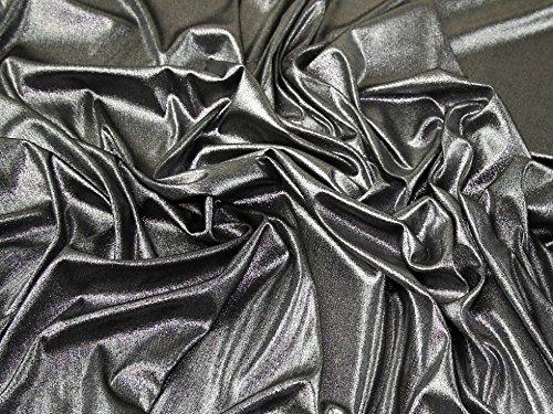 Metallic-lycra-gewebe (Metallic Foliendruck Stretch Jersey Knit Kleid Stoff-Silber auf schwarz Meterware)