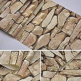 LRZZ Creativo Wallpaper-Wallpaper 10 * 0.53 M Piedras de Imitación PVC...