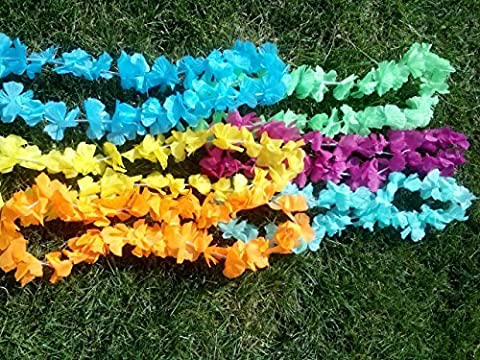 "Hawaiian Leis, Silk, 36"" Each, Solid Tropical Colors, Pack of 20 by Target Corporation"
