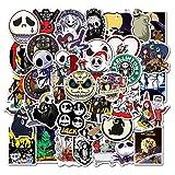 BLOUR 50pcs cadavere Sposa Adesivi per Film Autoadesivo del Fumetto di Halloween per Bagagli Regalo per Bambini Giocattoli per Bambini Adesivi di cancelleria50 Pezzi
