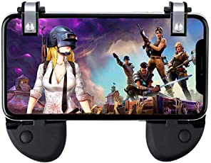 Mobile Game Trigger Controller Gamepad - KACOOL 2-in-1 Gamepad and Triggers Gaming L1R1 Sensitive Fire Shooter Button Aim Key with Gift Box for PUBG / Fortnite / Rules of Survival / Knives Out, Mobile Gaming Joysticks for Android iPhone