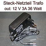 Netzteil Stecknetzteil Trafo 12V 3A 36 Watt Stecker 5,5/2,1mm