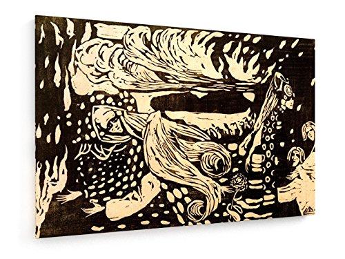 Fuga - Holzschnitt 1907-60x40 cm - Textil-Leinwandbild auf Keilrahmen - Wand-Bild - Kunst, Gemälde, Foto, Bild auf Leinwand - Alte Meister/Museum (Russische Volkstracht)
