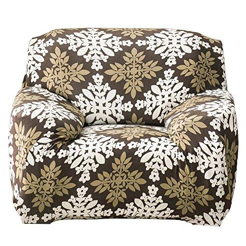 Powlance Dünn Blumen Elastic Eng anliegender Wrap Schonbezug Stoff Couch Handtücher Sofa Motiv Single (Single Vine-serie)