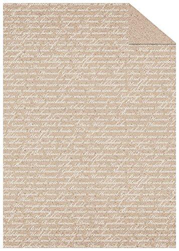 Ursus 13144602 - Fotokarton Prayer, 300 g/qm, DIN A4, Schrift, 10 Blatt