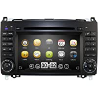 """Hizpo Autoradio RDS/DAB pour Mercedes Benz - 7"""" - 2 DIN - Avec lecteur DVD et commande Bluetooth au volant"""