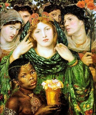 The Beloved 1865-1866 - Dante Gabriel Rossetti - Aluminium Wall Art 15 x 20cms