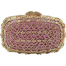 Noche Bolsas Bolso Mujer Fiesta Boda Carteras Brillo Mano Diamantes Cadena Embrague