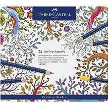 Faber-Castell 09114224 - Lápices de color aquarellables, 24 unidades