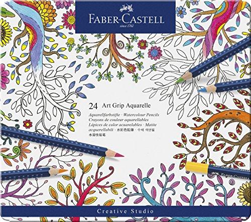 Faber-Castell Aquarell-Stifte Art Grip/114224 Inhalt 24 Etui